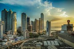 Panama city (minorhdez) Tags: canon2470 sky oceanview building beach coast 2470 5dmarkiii canon sunset panama ciudad agua mar sea edificios
