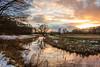 Winter Sunset Drentsche Aa Oudemolen (Gerald Schuring) Tags: drenthe drentscheaa drentseaa geraldschuring gerald schuring oudemolen zonsondergang sunset sundown natuur nature reflection spiegeling reflectie