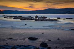 Swartswood Rocks and Ice.jpg (elektratig) Tags: swartswood lakeswartswood sunset stillwater sussexcounty newjersey