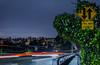 two way traffic (pbo31) Tags: oakland california nikon d810 color night eastbay alamedacounty boury pbo31 january 2017 winter bayarea lightstream motion traffic roadway 580 ramp exit highway over overpass wet rain storm reflection blue grandlake trestleglen