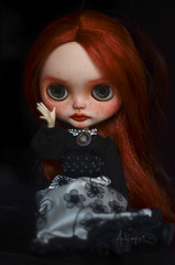 Marcy (Art_emis) Tags: marcy custom blythe doll ooak handmade hand painted reshaped altered carved redhead prairie posie rbl mold takara azone body photography artemis