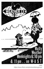 1965 Wally Weather (albany group archive) Tags: albany ny 1965 wally weather wast tv channel 13 1960s old vintage photos photo photograph history historic historical don weeks