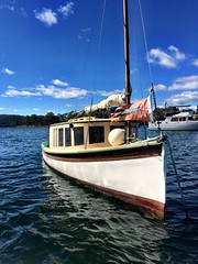 Beautiful boat. Copper Alley Bay.