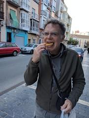 In which I eat a churro - Cartagena, Spain (John Meckley) Tags: cartagena spain churro deep fried food