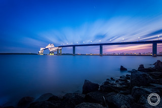 Seascape in Twilight, Tokyo Gate Bridge