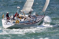 Yacht (Bernie Condon) Tags: water sport boat waves sailing wind yacht vessel hampshire solent sail southampton yachting upstart