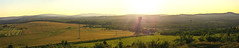 Sunset from Mdnec (holgileinchen) Tags: wood sunset sky panorama sun nature germany sonnenuntergang dusk saxony natur felder meadow himmel wolken sunny sachsen sonne wald bume klinovec erzgebirge fichtelberg keilberg