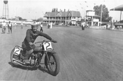 Rescan of Johnny Spiegelhoff wearing a Krause Indian Sales jersey (with Johnny embroidered on left sleeve). Track unknown (hondagl1800) Tags: usa indianmotorcycle johnnyspiegelhoff