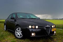 After the thunderstorm - Alfa Romeo 159 - series 1 of 3 (pwsonline) Tags: summer wet rain contrast fuji emotion pentax takumar sommer 28mm nat 200iso zomer adapter m42 alfa romeo fujifilm thunderstorm kiwi smc kontrast gewitter regen nass 159 onweer f35 alfisti onweersbui xe1 emotie pdraad pwsonline