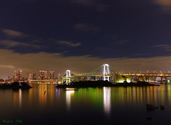 A feast of dynamic lights (Annie ( 00 )) Tags: bridge japan night lights tokyo bay photo rainbow dynamic scene annie ling rei twop naka gf1   annienaka