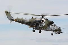 7356.EGVA180715 (MarkP51) Tags: plane airplane image aircraft aviation military airshow mil raffairford 7356 aviationphotography mi24v egva czechaf markp51 riat2015
