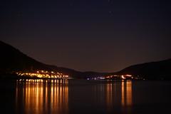 Rhine at night (nudelbach) Tags: longexposure reflection night river dark lights nacht fluss rhine rhein spiegelung dunkel lichter langzeitbelichtung reflektionen langzeitaufnahme