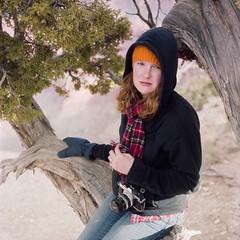 Kelly (Colton Davie) Tags: arizona portrait 120 film kodak grandcanyon january roadtrip kelly 2012 colornegative iso160 portra160 6x6cm rolleicordiii