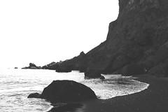 Grayscale Iceland, Vikurfjara (myerslaura) Tags: ocean sea white black beach water wonder iceland sand natural roadtrip cliffs vik edge waters grayscale matte vikurfjara