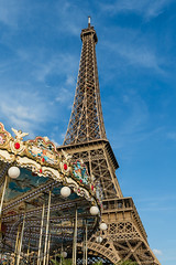 Paris June 2015 (7) 230 - Saturday night at the Eiffel Tower (Mark Schofield @ JB Schofield) Tags: street people paris france tower french ride roundabout saturday carousel eiffel stgermain