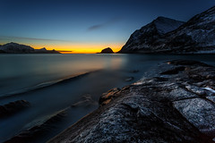 haukland at night - norway (cfaobam) Tags: travel sun color beach nature water norway stone canon landscape eos wasser europa europe long exposure norwegen national fjord landschaft stein lofoten geographic 6d langzeitbelichtung travelphotography magiclight haukland deepnorth cfaobam dualiso cfaobamhome