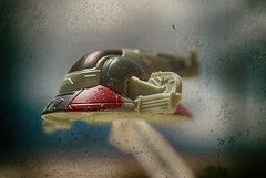 It Will Never Fly (hbmike2000) Tags: toy outside fly flying starwars nikon ship dirt bobafett spaceship d200 dust textured diecast odc hotwheel hcs slave1 clichesaturday hbmike2000
