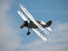 Gloster Gladiator - Old Warden (davepickettphotographer) Tags: park vintage beds aircraft aviation bedfordshire olympus collection airshow trust airfield gloster biggleswade em1 shuttleworthcollection oldwarden glostergladiator olympuscamera theshuttleworthcollectionuk biplanefighteraircraft