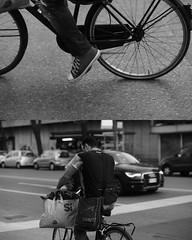 [La Mia Città][Pedala] (Urca) Tags: portrait blackandwhite bw bike bicycle italia milano bn ciclista biancoenero mirò bicicletta 2015 pedalare dittico 75753 nikondigitale ritrattostradale