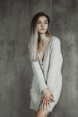 Nastya (ivankopchenov) Tags: girl portrait cute canon beautiful natural naturallight model mood people face soft light eos young hair warm sensual gentle cinematic depthoffield eyes indoor modeltests fashion studio white