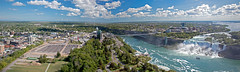 Looking North from the Skylon Tower (Bob Gundersen) Tags: bobgundersen gundersen robertgundersen nikon nikoncamera nikond600 d600 niagarafalls ontario canada water waterfall river bridge landscape panorama skyline clouds interesting image outside outdoor exterior photo picture places park scenes shots scene pano wideangle