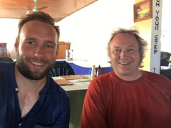 Me and Jordan at the Hotel in Tuvalu.