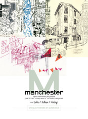 """Couverture """"Manchester en croquis"""" (lolo wagner) Tags: manchester sketch usk urbansketchers croquis crowdfunding"""