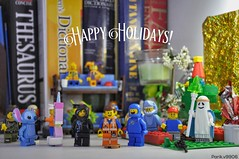 Happy Holidays Everyone! (parik.v9906) Tags: d90 emmet thelegomovie love 2016 lighting indoors free red wishes well minifig tree gifts fun together family late christmastree christmas holidays light sheet gold apple iphone nikon project 365project days 365days 365 minifigures minifigure legos lego