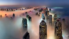 Cryogenic City II (DanielKHC) Tags: uae dubai fog marina cayan tower panorama rooftop nikon d810 nikkor 24mm tilt shift