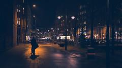 Aarhus Nights-9 (cohenvandervelde) Tags: 35mm 365project 550d apsc aarhus city cohenvandervelde creativecommons dof denmark scene scout snap souls worldstreetphotography blue canon color colour depthoffield gold lights people primelens purple silhouette street streetphotography streettog sunset tunnel