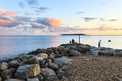 Ringstead Bay (mh218) Tags: dorset portlandbill ringstead alert bay beach coast dark dusk evening jurassic landscape night panorama pebbles promontory rocks scene scenery scenic sea seascape seaside shingle stone sunset twilight view warning water