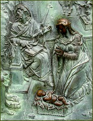 nativity ...... (ana_lee_smith) Tags: christmas noel nativity december25th2016 bronze doors relief romanesque 16thc cathedral pisa italy michaelangelobatio merrychristmas peaceonearth goodwilltoallmen happyholidays analeesmith