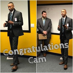 Work hard  Get promoted 💪 Be happy and proud of yourself 😍 Congrats Cam!!! #thegoodlife #lovewhatyoudo #101bb #success #leadership #team #olninc #carsonca (oln_inc) Tags: oln inc carson ca los angeles