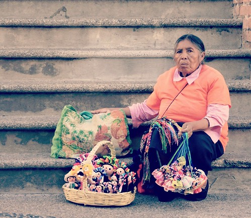 A woman in Mexico