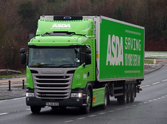 Asda Scania G410 SL66NZD on the A90, Dundee 15/1/17 (andyflyer) Tags: asda asdatruck scania scaniag410 sl66nzd truck haulage lorry hgv transport roadhaulage