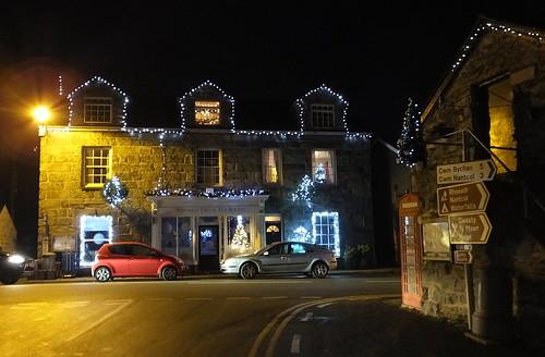Christmas lightd, Llanbedr, Gwynedd,