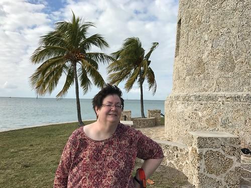 Surveying the lighthouse at Boca Chita Key