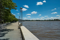 Lake Burley Griffin in summer (i-lenticularis) Tags: 2ndkit1mmlessthanorig 084totalshims infinitycheck lakeburleygriffin lake sky canberra lccg21f8skyused contaxg21f28lmconversion c1pro10