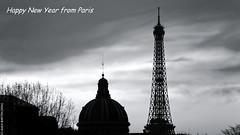 Happy New Year (L'Abominable Homme de Rires) Tags: happynewyear paris toureiffel tower noiretblanc nb blackwhite canon eos5dmarkii