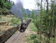 Loco C2-10  |  Shibanxi, China  |  2011 (keithwilde152) Tags: c210 shibanxi railway jiayang mines sichuan china 2011 tunnel5 tracks landscape countryside mifengyan coal train steam locomotives summer sun