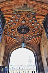Gateway To Knowledge (Douguerreotype) Tags: uk gb britain british england oxford university college gate roof ceiling ornate architecture