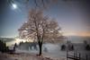 Snow, fog and the moonlight (He_Da) Tags: zug zugerberg switzerland schweiz fog nebel nebelmeer seaoffog mond moon moonlight stars sternenhimmel sterne
