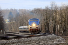 30 Days On The Main Line: Day 18 (Wanderer Photography) Tags: amtrak rail railroad railway track pittsburgh line division pennsylvania pennsylvanian 07t 42 train passenger washington lilly twp township cambria county