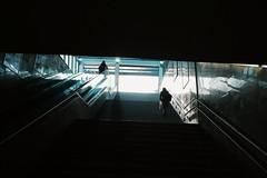 Climbing the stairs (Kostas Katsouris) Tags: street stairs going up fuji xt10 fujifilm urban light reflection contract vcso sofia bulgaria metro
