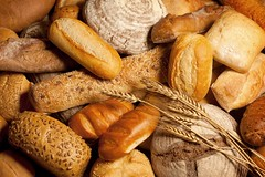 assortment of baked bread with wheat (MinutoPão) Tags: bread bakery baker bake wheat baguette brown bun cereal crust diet dinner eating food french fresh healthy loaf seed tasty ukraine