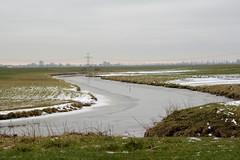 Het Oude Diepje. (Snoek2009) Tags: hetoudediepje hunze reitdiep oldenzijl winsum water winter ice snow green grass river 2017