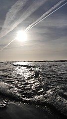 small waves (Mr.Zenma) Tags: ocean sea sky sun white black cold water work landscape lumix meer wasser waves silent bright time outdoor himmel northsea end g6 closing landschaft welle dmc küste patterned ozean