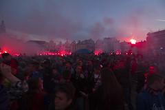Plze Main Square 30.5.2015 (Pavel Vanik) Tags: city canon square football pilsen celebration 7d czechrepublic fans bohemia viktoria plze 1018is
