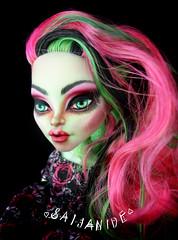 Rosalie (saijanide) Tags: pink monster rose high doll neon venus zombie ooak makeup shake custom repaint faceup mcflytrap saijanide