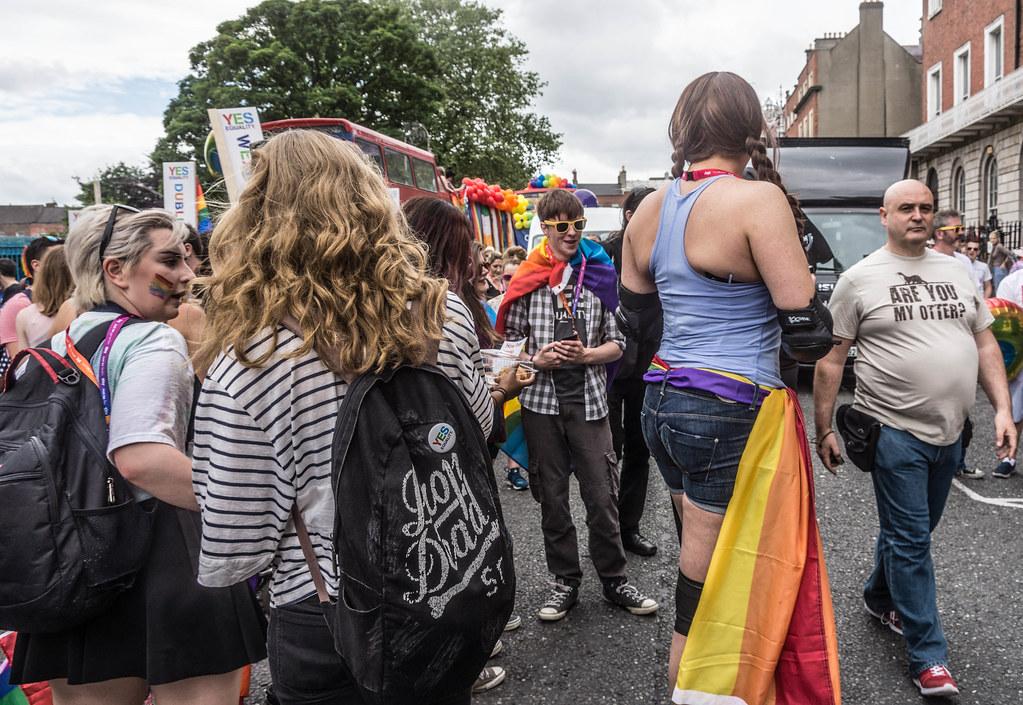 DUBLIN 2015 GAY PRIDE FESTIVAL [BEFORE THE ACTUAL PARADE] REF-106244